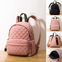 Quilted Nylon Small Mini Backpack Rucksack Daypack Travel bag Cute Purse