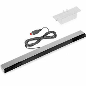 New Wired Infrared Motion Sensor Bar w/ Stand for Nintendo Wii Wii U Console