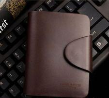 Men's Designer Wallets Harrm's Short Dark Brown Bifold Leather