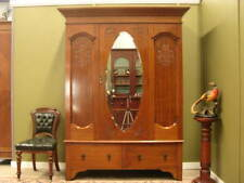 FINE ANTIQUE QUEENSLAND MAPLE 1 DOOR MIRRORED WARDROBE / STORAGE CABINET  c1930s