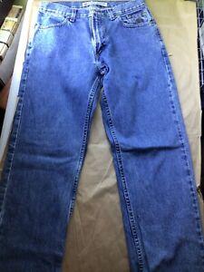 Genuine Harley Davidson Men's Jeans Straight Cotton Sz 32/34.  (32×34)pre owned