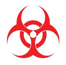 Biohazard sign logo, bio hazard, sticker vinyl decal, car window, doors, laptop