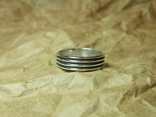 925 Sterling Silver  Ribbed Wide Band RING  sz 11   Celtic Tribal    Unisex Ring