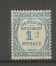 "MONACO STAMP TIMBRE TAXE N° 27 "" 1F BLEU CLAIR 1932 "" NEUF xx TTB"