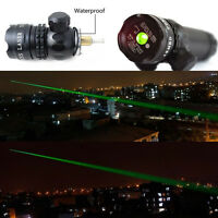 NEW Real Gun Green Dot Laser Sight Rifle Scope w/ Rail Barrel Mount Cap Switch