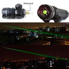 New Green Dot Laser Sight Rifle Scope w/ Rail & Barrel Mount Cap Pressure Switch