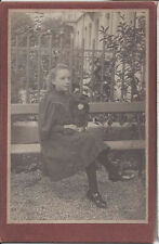 1900s Cabinet Photo Young Little Lady With Favorite Toy Doll