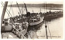 Baie Comeau Quebec The Wharf - Litho Real Photo - 1956 - Fair/Good Staining