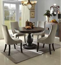 stunning casual pedestal dining table chairs dining room furniture set - Chairs Dining Room