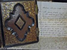 1850 GOLD RUSH LETTER~HANGING~PHOTO ALBUM cdv & tintype