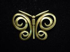 "Pewter Swirl Butterfly Pin ""Jj"" Jonette Jewelry Bronze"