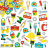 60 Asst Self Adhesive Colourful Foam Work Tool Shapes New