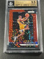 KOBE BRYANT 2018 PANINI PRIZM #15 FAST BREAK RED REFRACTOR /125 ALL BGS 9.5 SUBS
