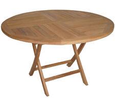 KMH® Teak Klapptisch 120 cm rund Esstisch Gartentisch Teaktisch Holztisch Holz