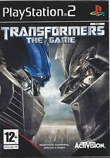 TRANSFORMERS THE GAME for Playstation 2 PS2 - with box & manual - PAL