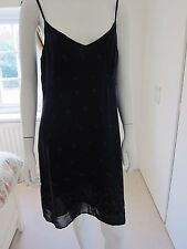 Beautiful Principles Navy Flower patterned lined Dress - Size 12 - rrp £60