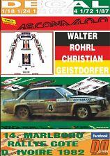 DECAL OPEL ASCONA 400 W.ROHRL R. COTE IVOIRE 1982 WINNER (09)