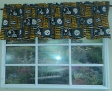 Black square gold Pittsburg Steelers Valance
