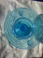 Coupelle vide poche en verre moulé bleu Portieux