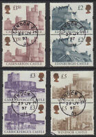 2 x GB 1997 Castles Stamps ~Enschede~ to £5~4 Values ~Very Fine Used~UK Seller