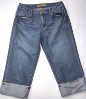 Women's Seven7 Capri Jeans Premium Denim Size 4 Cuffed