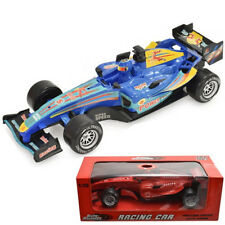 PLASTIC RACING CAR FORMULA ONE WITH SOUND KIDS FUN 1:10 FRICTION POWER FUN NEW