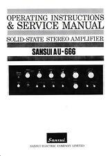 Service Manual-operating instructions-Instructions pour SANSUI au-666