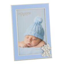 Photo frame 4 x 6 inch blue frame with silver colour teddy bear embellishment