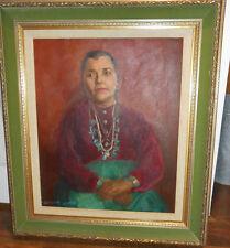 1940's Portrait by Listed California Artist Caroline Cameron