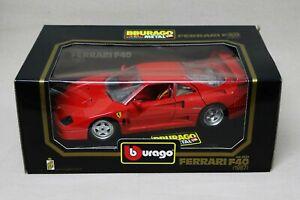 Burago Red Ferrari F40 (1987) - 1/18 Scale Diecast Metal Model Car - #3032