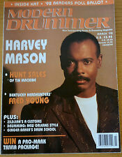 Modern Drummer Magazine March 1992 Harvey Mason, Hunt Sales, Fred Young