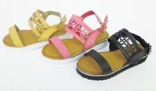 Leather Upper Shoes Sandals for Girls Buckle
