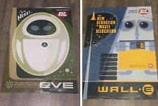 Disney/Pixar Wall-E & EVE Retro 60's Style Promo Art Poster Lot of 2