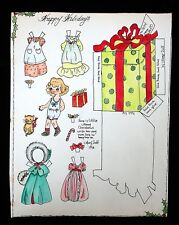 """""""Merry Christmas"""" Holiday Paper Doll by Mary Duff 1978"""