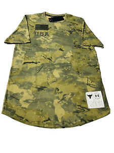 Under Armour Men's Project Rock Veteran's Day Graphic T-Shirt ALL SIZES NEW CAMO