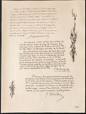1926 - Lithographie citation de Klobukowski, de Margerie, Noulens