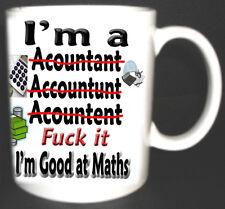 I'M A ACCOUNTANT MUG I'M GOOD AT MATHS FUNNY CUP Novelty Gift CALCULATOR, AUDIT