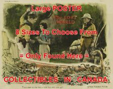 "THE LOST WORLD 1925 Dinosaur HUGHES Love STONE = MOVIE POSTER 8 Sizes 18"" - 3 FT"