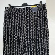 M&S Ladies Harem Style Trousers - Tapered - Ankle Grazer Black Mix Size 16 BNWT