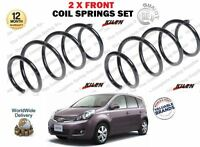 FOR NISSAN NOTE E11 1.4 1.6 2007-> NEW 2 X FRONT LEFT + RIGHT COIL SPRINGS SET