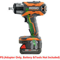 1x Ridgid 18V Cordless Tools Adapter Work with Milwaukee M18 RED Li-Ion Battery
