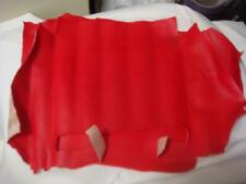 Vintage Vinyl Upholstery Fabric Remnant Lipstick Red inches