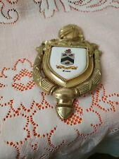 Knight Brass Door Knocker Dated 1965 ATL ADV ATL CY Vintage Evan's Nameplate inc