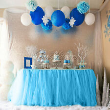 Aqua Blue Pricess TUTU Tulle Table Skirts for Wedding Party Birthday Baby Shower