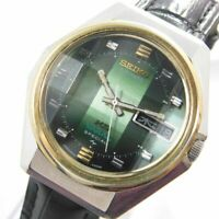 KING SEIKO VANAC 5246-6030 SPECIAL AUTOMATIC GREEN 25J MEN'S VINTAGE WATCH JAPAN