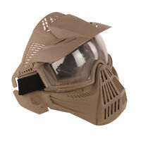 Full Face Protective Goggles Mask Tactical Military Game Paintball Airsoft Mud