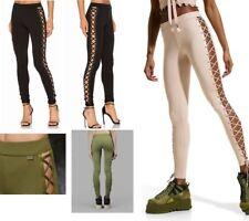 $180 New FENTY PUMA Boxing Bomber Lace-Up Pants Leggings Black Green Beige S M L