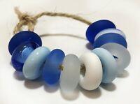 Handmade Lampwork Beads From Murano Glass 11 Pcs OOAK Tamara Yarilo Brand