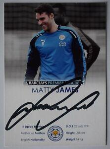 Matty James Signed Autograph 6x4 official photo club card Leicester City COA