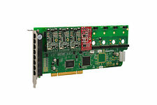 OpenVox A800P31 8 Port Analog PCI Base Card + 3 FXS + 1 FXO, Ethernet (RJ45)